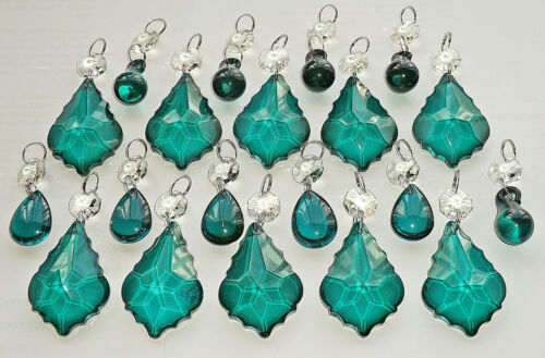 CHANDELIER DROPLETS BUNDLE GLASS CRYSTALS BEADS DROPS CHRISTMAS TREE DECORATIONS