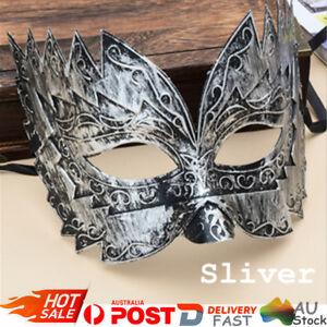 Silver-Men-039-s-Roman-Gladiator-Venetian-Style-Half-Face-Mask-Masquerade-Party
