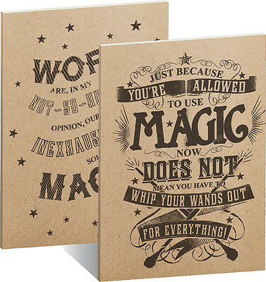 Magic 15x21cm Neu & Ovp Offen 2er Set A5 Exercise Books Harry Potter