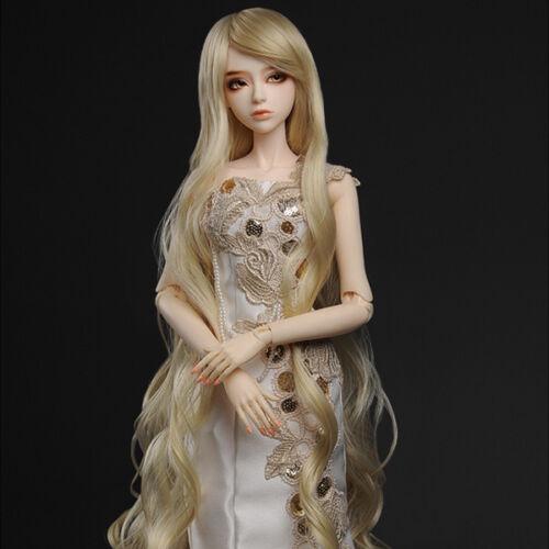 "8-9 Dollmore 1//3 BJD SD size wig /"" Rapunzell Long Wig Blonde"