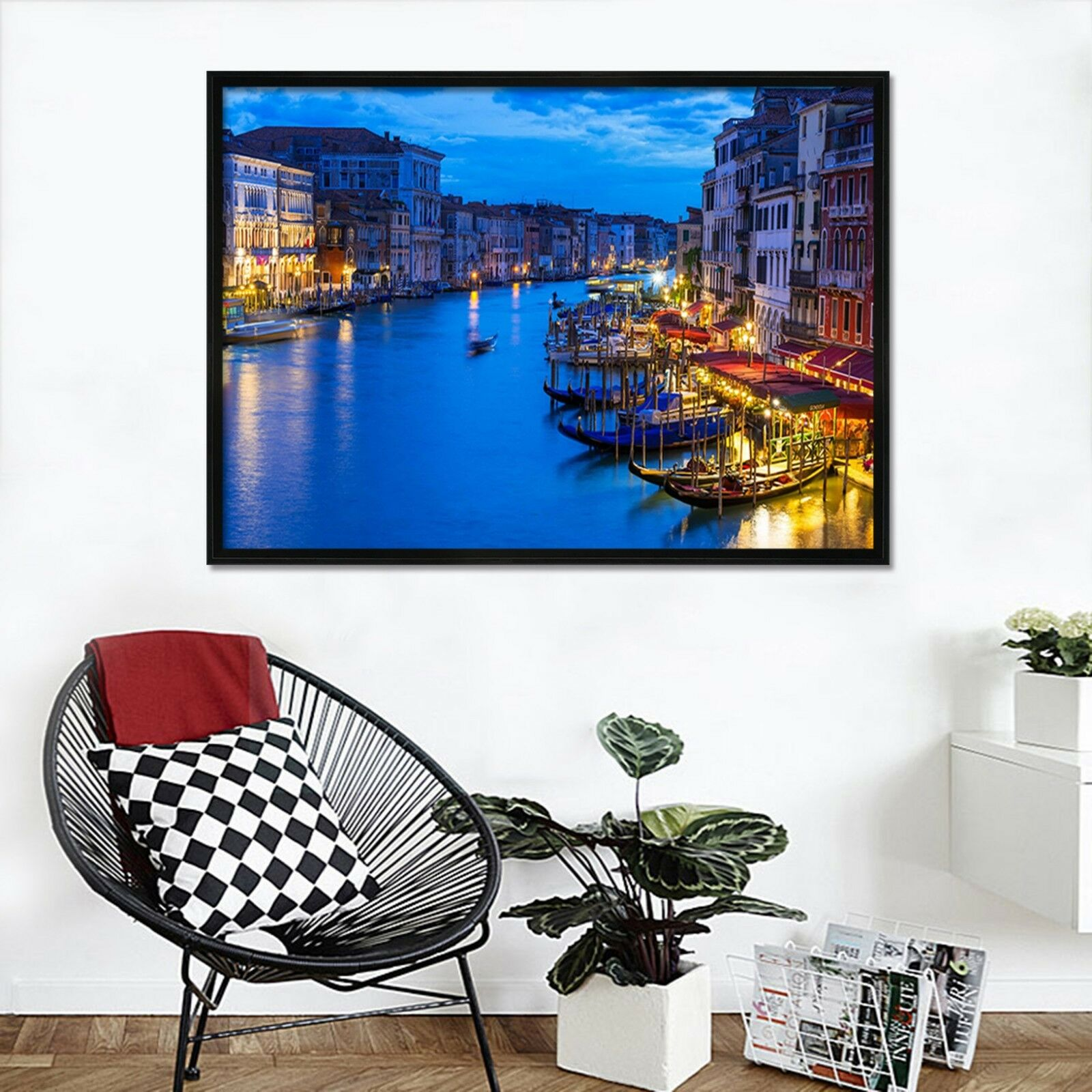 3D Town River 456 Fake Framed Poster Home Decor Print Painting Unique Art Summer