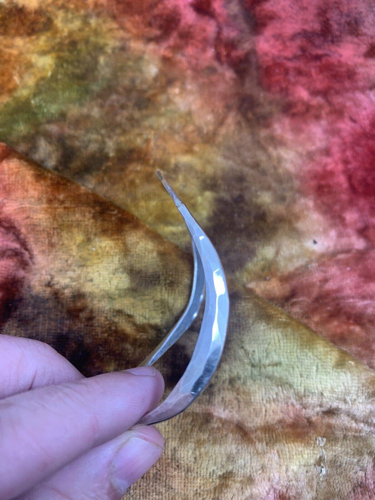 STINN STERLING MODERN MID CENTURY HAMMERED BRACEL… - image 2