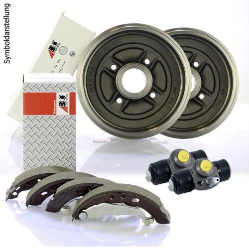 Bremsbacken Montagesatz für VW Polo 2 Bremszylinder Bremstrommeln