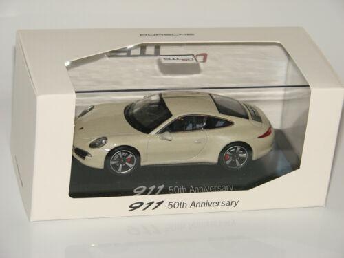Porsche 911 Coupé White 50th Anniversary Sondermodell 1:43 NEU OVP NEW MISB