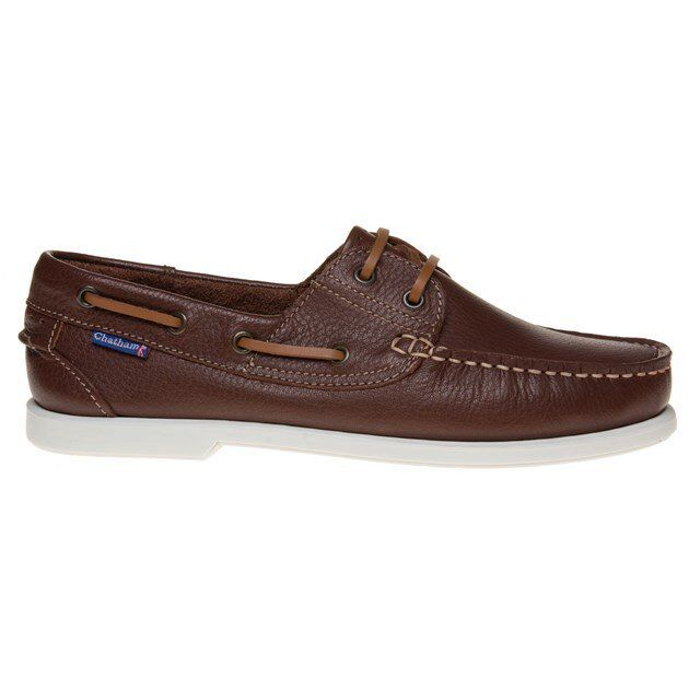 New Mens Bow Chatham Marine Braun The Bow Mens II Leder Schuhes Boat Lace Up 018b8c