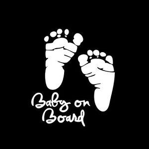 Adesivo-sticker-Baby-Board-bambino-bimbo-bordo-decalcomania-auto-tuning-BIANCO