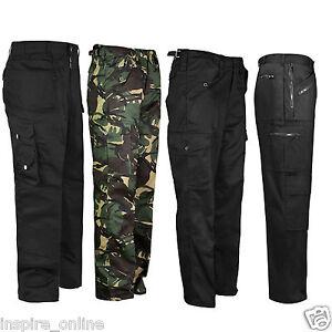 Nuevo-Para-Hombre-Adultos-Work-Wear-de-pantalones-de-combate-cosido-Bottoms-trabillas-ejercito