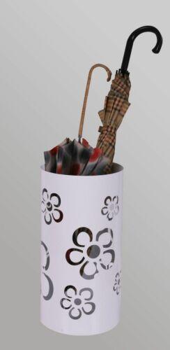 49 x Ø 22,5 cm weiß Regenschirmständer Ständer für Regenschirme Flower Frame