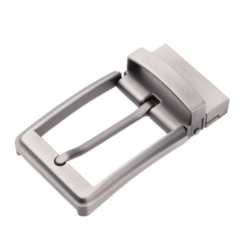 Reversible Buckle Alloy Antique Rectangular Single Prong Pin Belt Buckle for Men