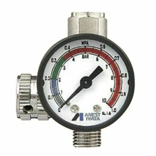 ANEST IWATA Hand Pressure Gauge AJR-02S-VG Air Regulator for Spray Guns