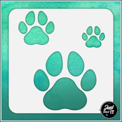 Dog Paws #1 durable and reusable stencil for DIY painting /& crafts