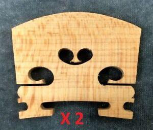 TWO-High-Quality-Violin-Bridges-4-4-Full-Size