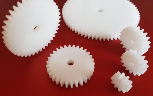 taladro ø4 módulo 1 engranaje engranaje recto ancho 5mm fresada plástico pom 24 dientes
