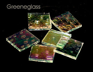 Clear Rainwater Iridized Mosaic Glass Tile * Cut to Order Shapes * Med Package