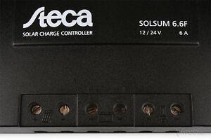 Lovely Solarladeregler Steca Solsum 6.6f 12v 6a Laderegler Charge Controller 24v