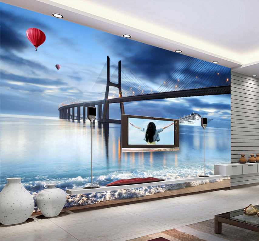 3D Ship Sea 459 Wallpaper Murals Wall Print Wallpaper Mural AJ WALL AU Lemon
