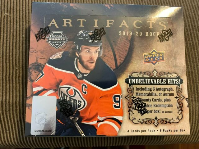 2019 Upper Deck Artifacts Hockey Hobby Box Factory Sealed