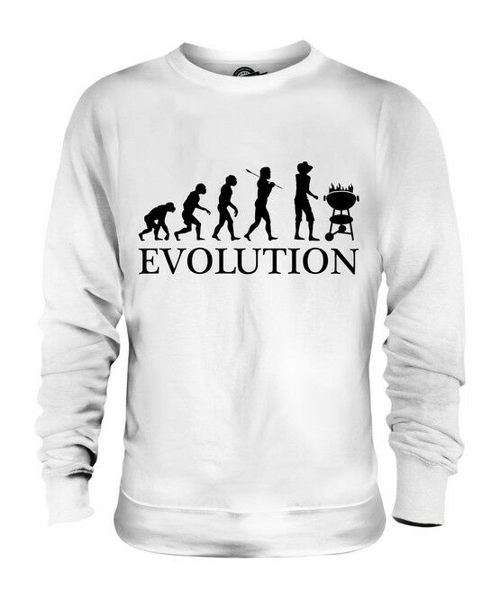 BARBEQUE EVOLUTION OF MAN UNISEX SWEATER  Herren Damenschuhe LADIES GIFT BBQ