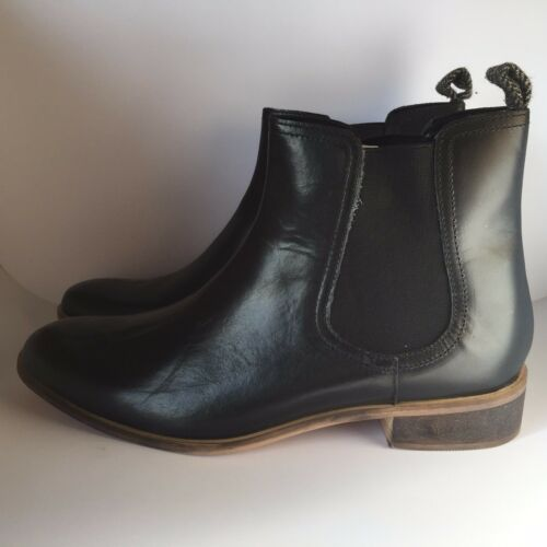 Ravel Leather Chelsea Boots Womens Black Sizes 6,7,8 Narrow SECONDS £24.99