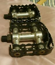 GT Power Series DOUBLE Cage BMX OLD SCHOOL 9/16 Racing Pedals for 3 piece cranks