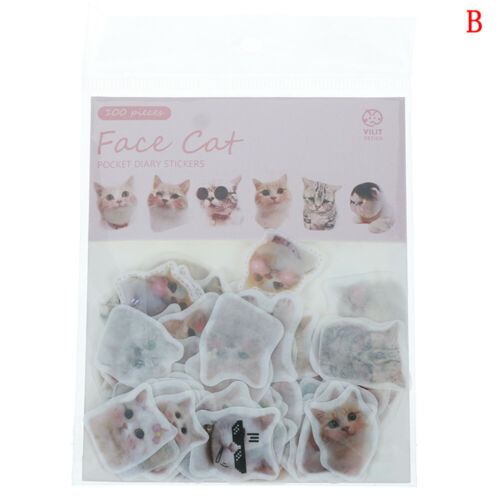 100pcs//pack Cat Flower Diary Memo Stickers Pack Kawaii Scrapbooking Sticker*