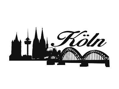 Köln Skyline Wand Möbel Auto Tattoo Aufkleber Vers