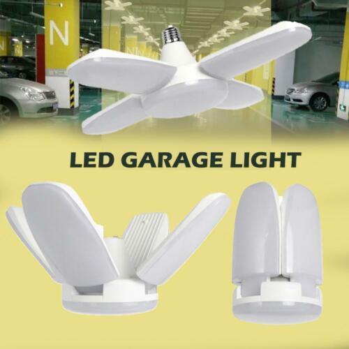 E27 60W LED Garage Light Deformable Lamp Adjustable Ceiling Light 6500K Home