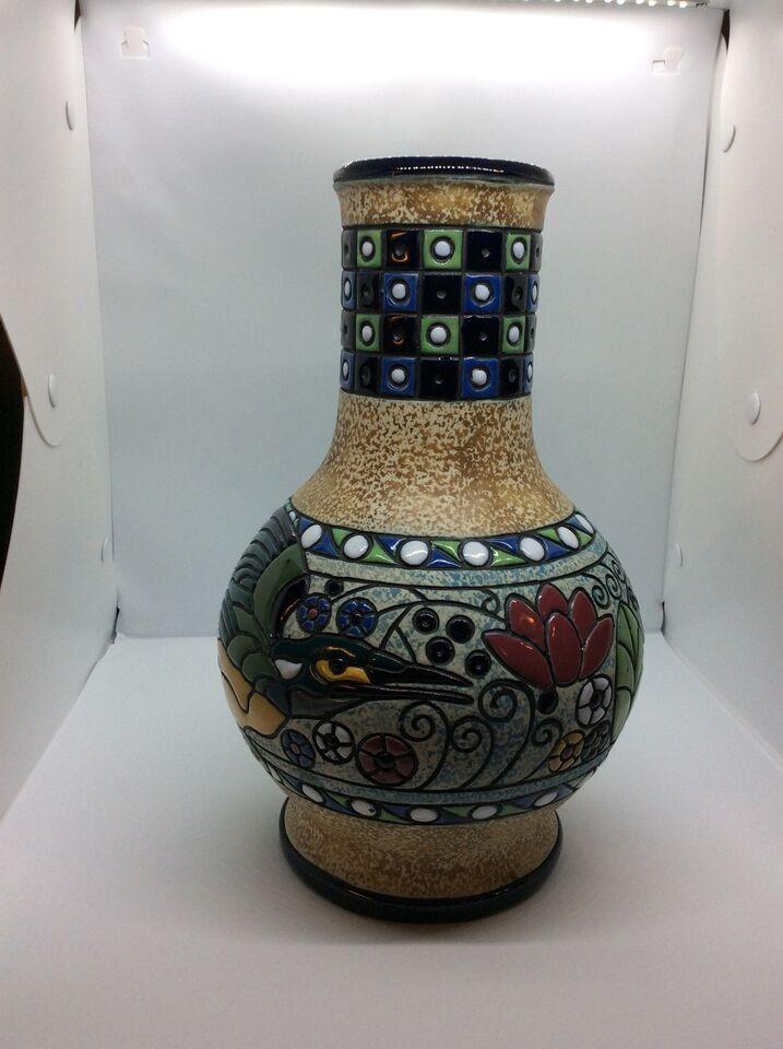 Keramik, Vase i flere farver, Czecho Slovakia