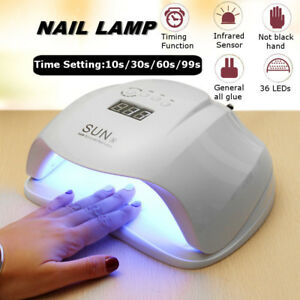 Plug Light Gel about UV Lamp SUNX Polish Cure Dryer EUUS Lamp Nail UV Details 54W Nail LED 8XZnP0wNkO