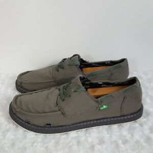 Image is loading Sanuk-Mens-Shoes-Sunbrella-Gray-Distressed-Canvas-Slip- 45a7f0738
