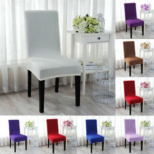 Image Is Loading Dining Room Banquet Chair Cover Stretch Seat Slipcover