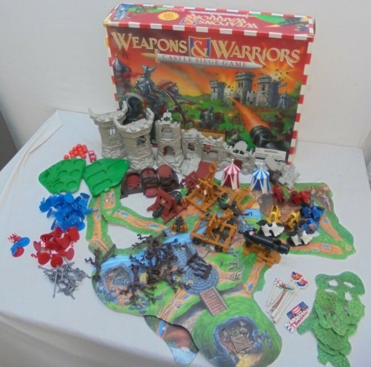 Weapons & and Warriors Castle Combat Set Pressman Board Game 1995 Incomplete