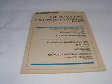 vecchio Manuale di istruzioni Orsta idraulico