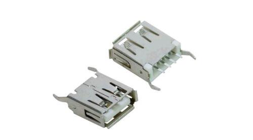 38.1012018 PRESA USB 180° DA PANNELLO CON TERMINALI DA CIRCUITO STAMPATO