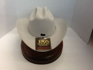 cfe53a79fc1 Stetson Cowboy Hat 6X Beaver Fur Silver Grey SKYLINE With Free Brush ...