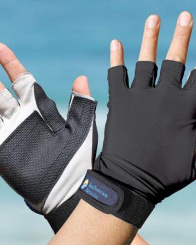 Sport Gloves UPF50 BLACK Sun Protection Kayaking Fishing Driving