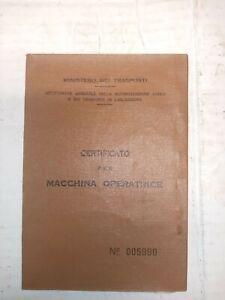 libretto macchina operatrice