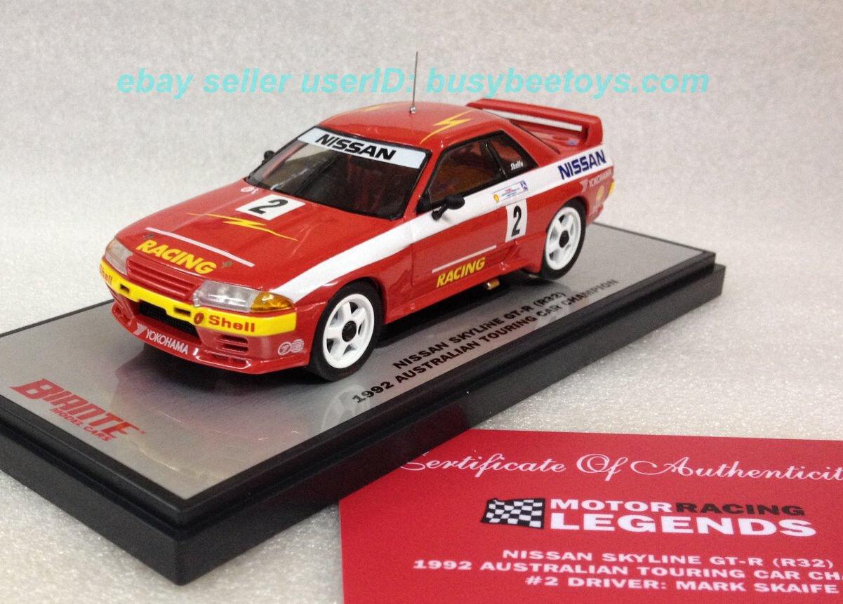 1 43 BIANTE NISSAN SKYLINE R32 GTR GODZILLA 1992 AUSTRALIAN TOURING CAR CHAMPION