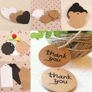 Wedding Gift Card Value : ... Kraft Paper Hang Tag Wedding Party Favor Label Price Gift Cards eBay
