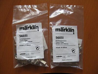 Märklin 56031 Staffe Di Contenimento Traccia 1 Sacchetti 2 = 60 Pezzi Uvp = 25,00 Euro Nuovo-mostra Il Titolo Originale Medulla Benefico A Essenziale