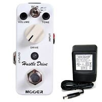 Mooer Audio Hustle Drive Distortion W/ 9v Power Supply Free Shipping