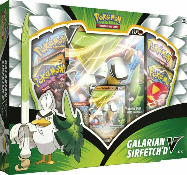 Pokemon TCG Galarian Sirfetch'd V Box NEW SEALED COLLECTION XY EVOLUTIONS