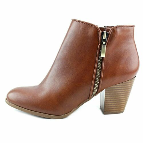Style /& Co Womens Jamila Leather Almond Toe Ankle Fashion Boots