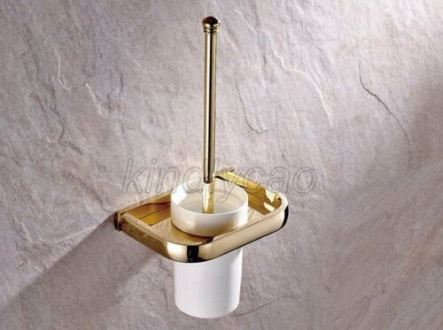 Gold Brass Salle de bain accessoires de bain Matériel fixe Serviette étagère porte-serviettes Kxz005