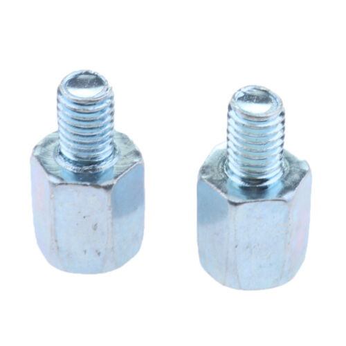 Motorcycle Reverse 8mm to 8mm Conterclockwise Thread Rear View Mirror Bolts