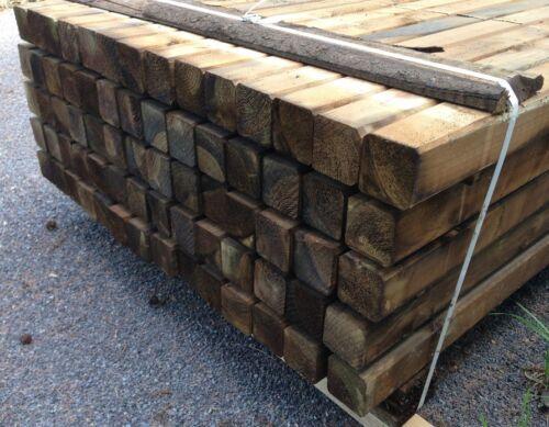 Zaunpfosten Holzpfosten Baumpfosten Zaun Pfosten HaGa® 7cmx7cmx150cm 10 Stk