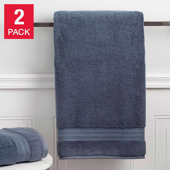 5X Charisma Soft 100/% Hygro Cotton Luxury  Bath Towels plush soft pile blue shdw