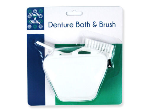DENTURE-BATH-RETAINER-AND-BRUSH-CLEAN-HYGIENE-PROTECT-WASH-KIT-x-2