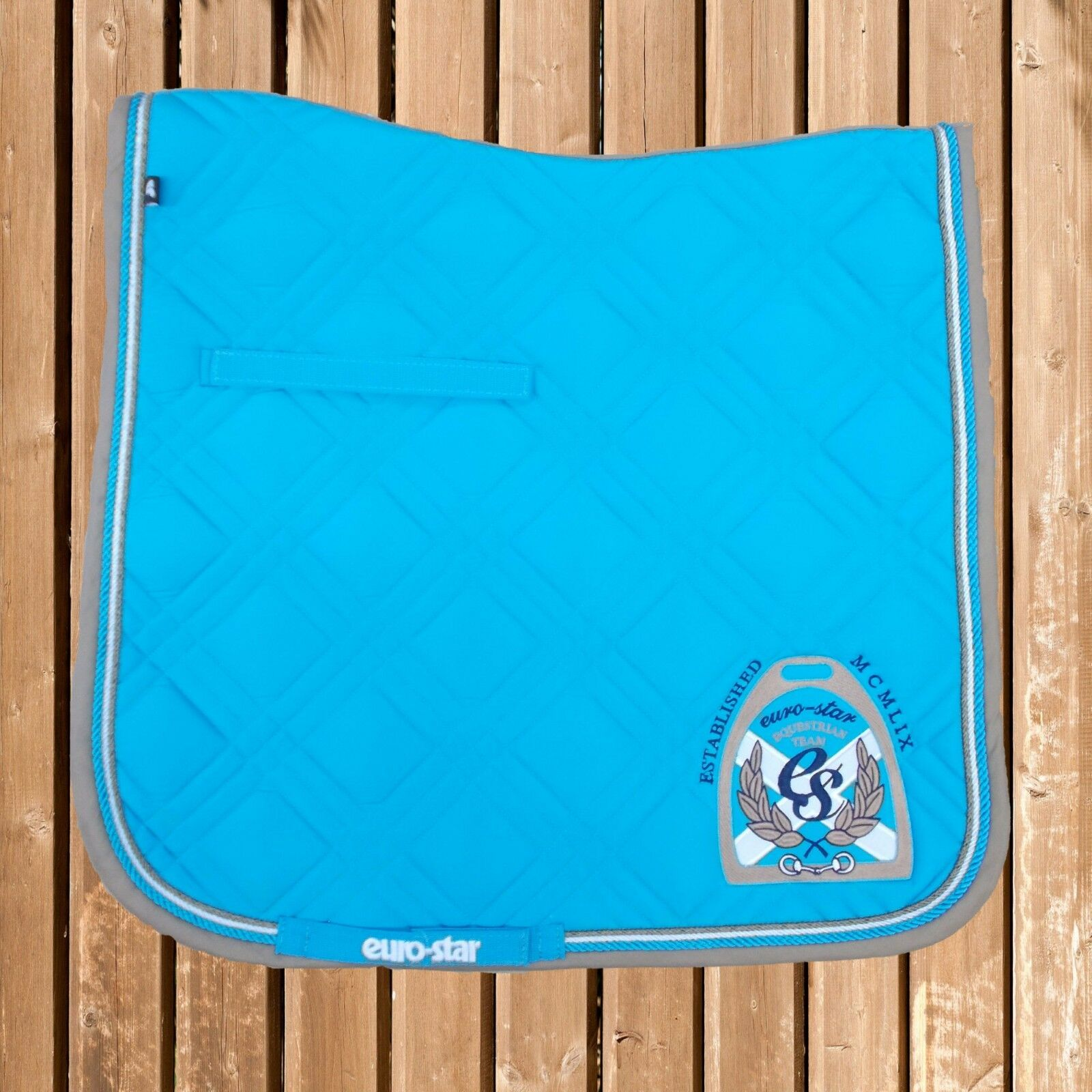 Euro Star Saddle Pad Excellent S, Turquoise, Euro Star Saddle Blanket, Saddle Pad