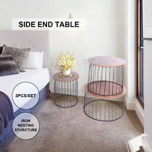 Table basse Fin de table Ronde Table d'appoint de canapé Table de chevet S+M+L